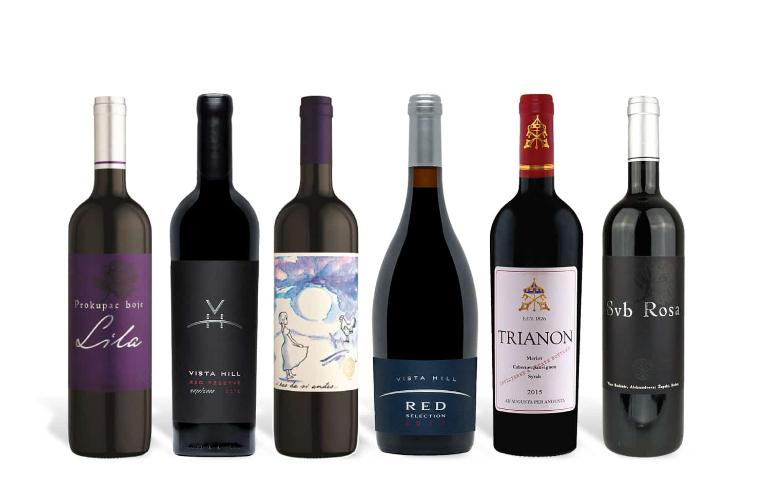 Serbian Red Wine Selection